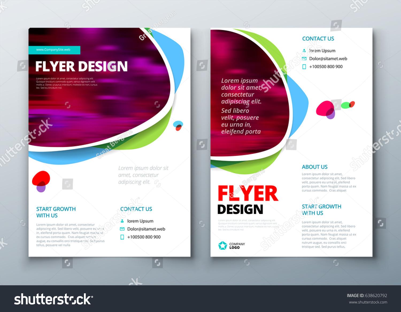 flyer template layout design business flyer のベクター画像素材