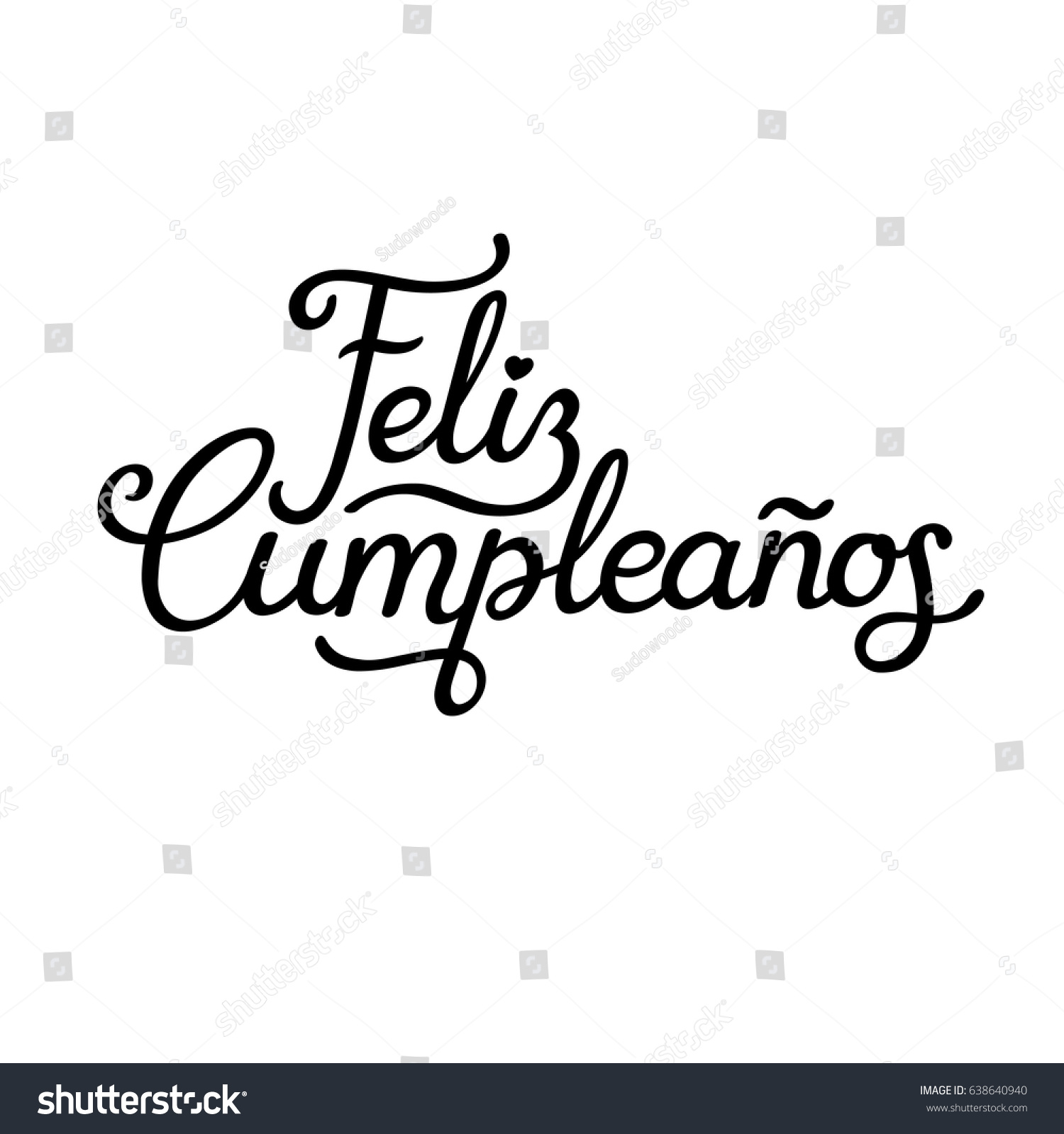 Feliz cumpleanos translated happy birthday spanish stock - Feliz cumpleanos letras ...