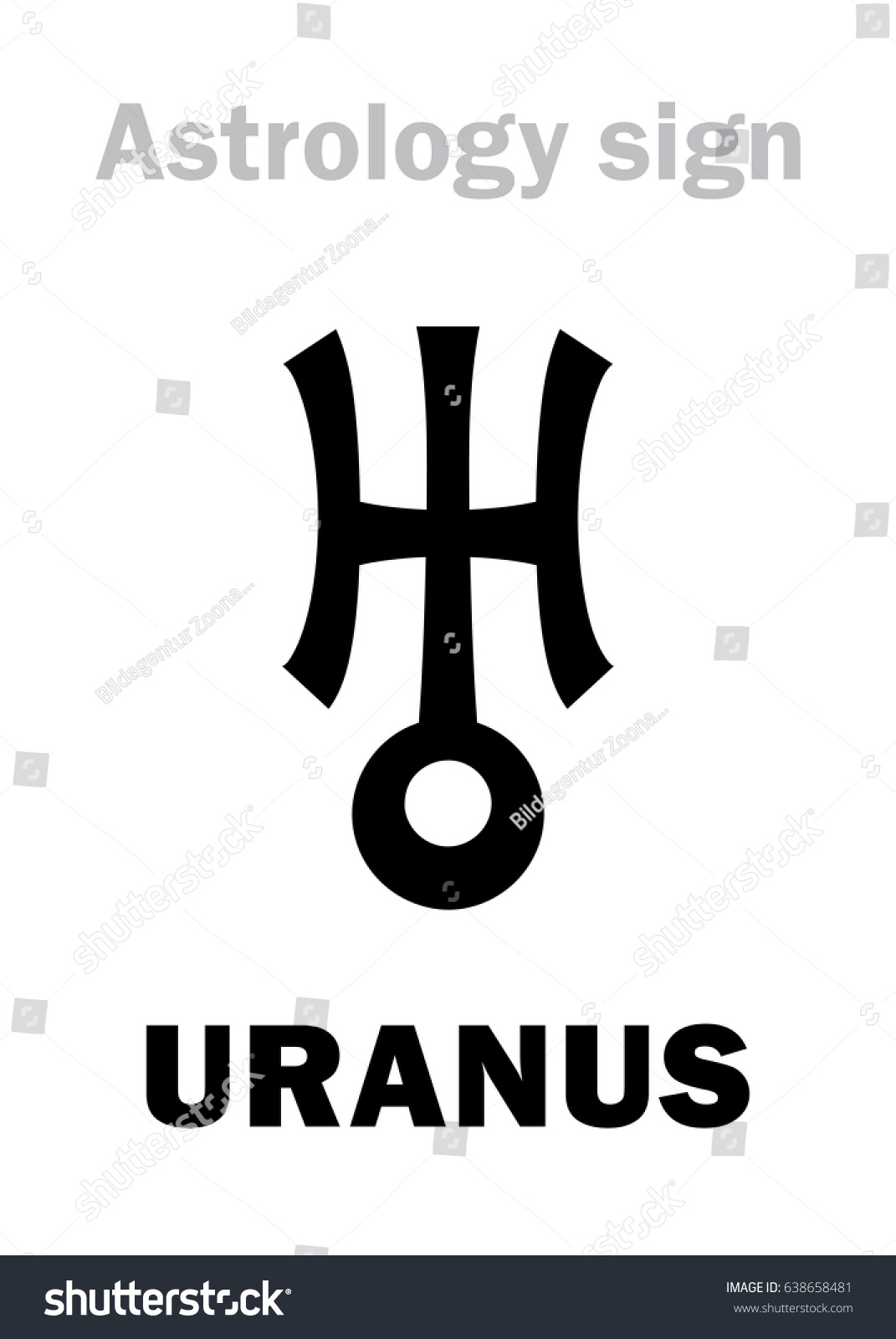 Astrology Planet Uranus Stock Illustration 638658481 Shutterstock