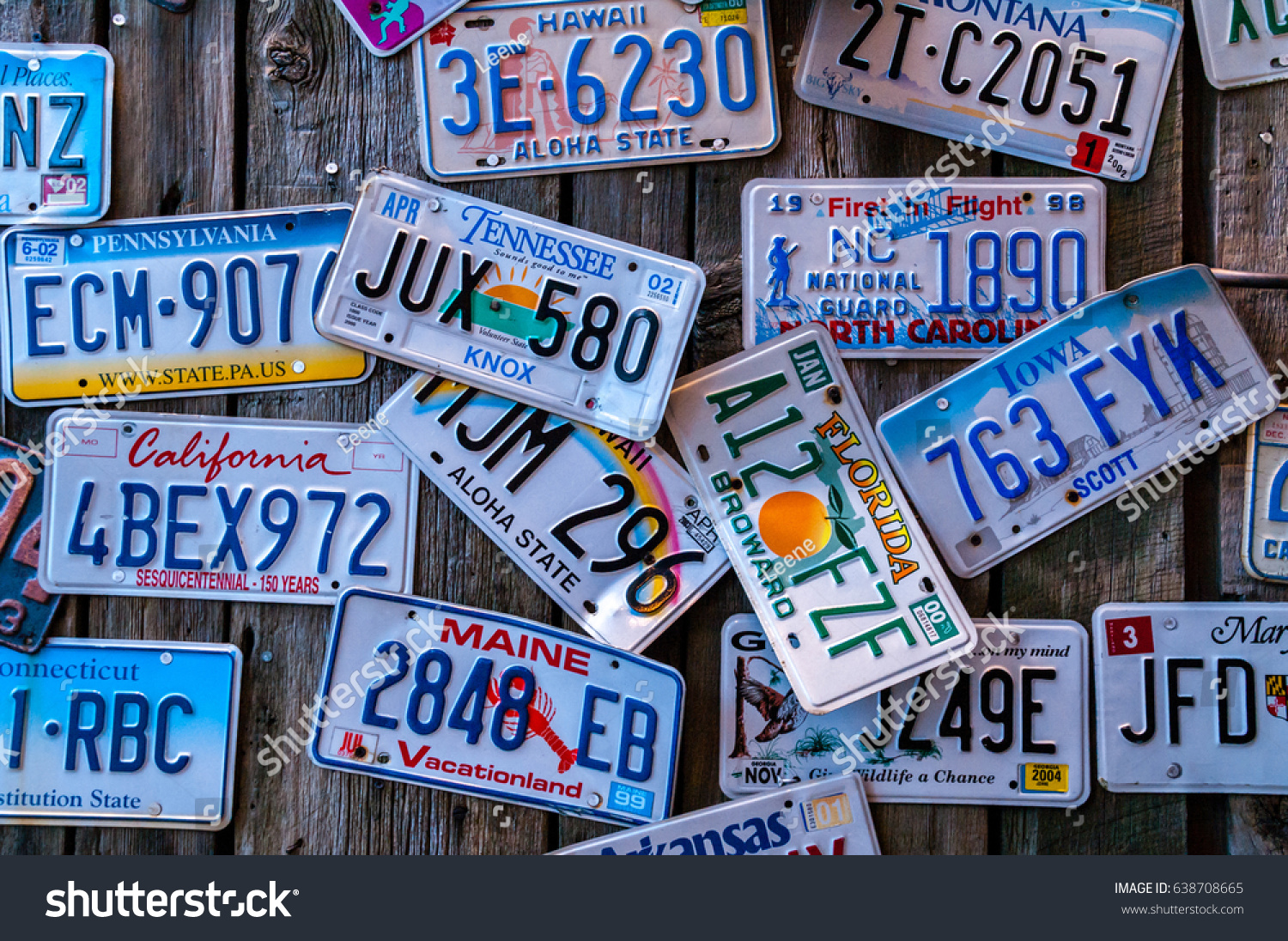 Discontinued License Plates Around Country On Editar Agora Foto Stock 638708665