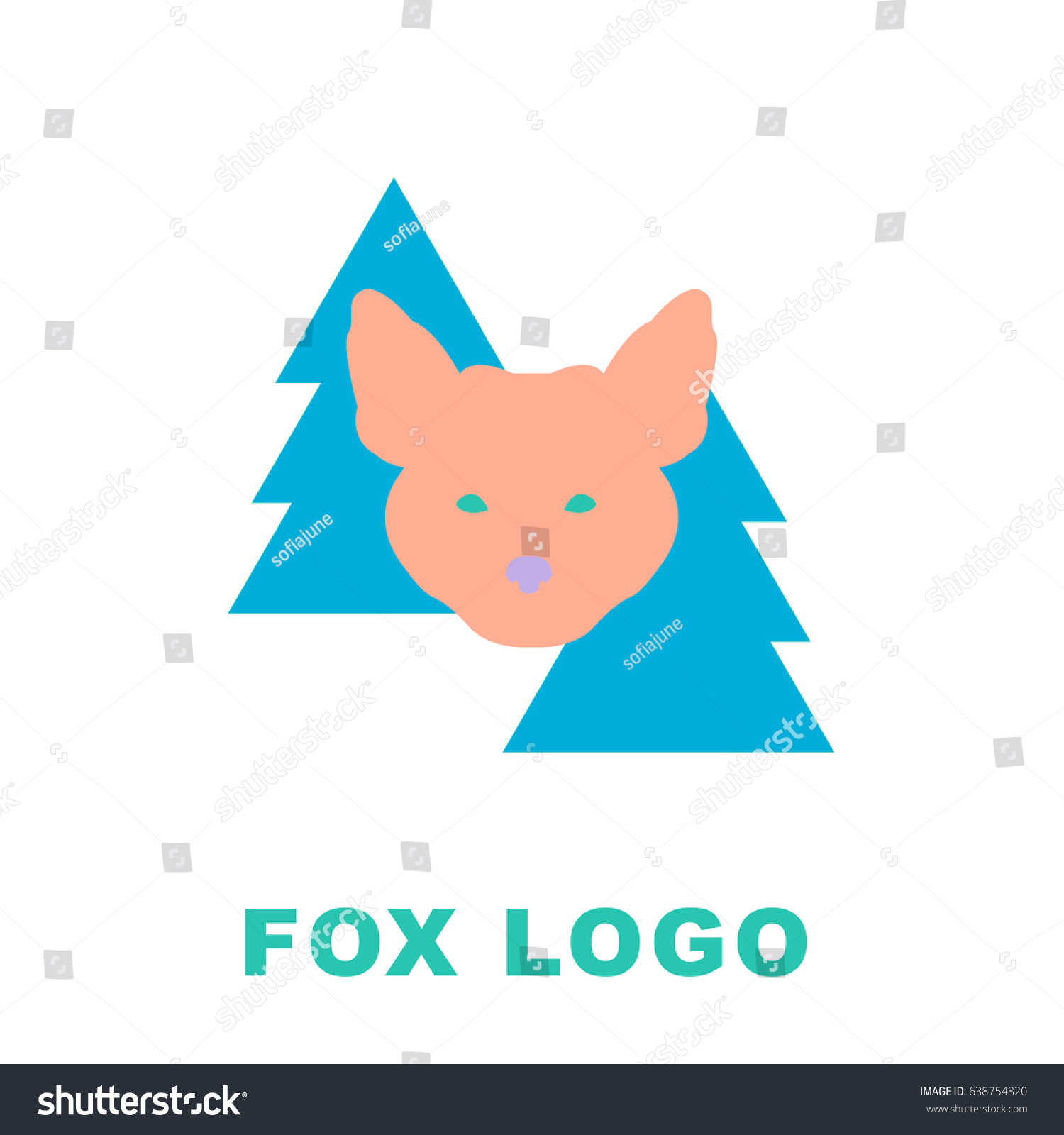 Stylized Illustration Fox Woods Can Be Stock Vector 638754820