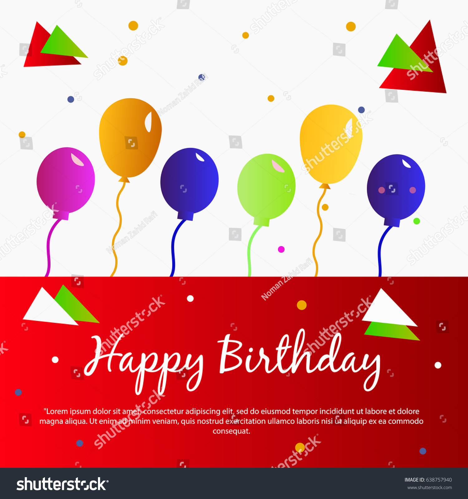 Best Creative Happy Birthday Card Template Vector 638757940 – Happy Birthday Cards Templates