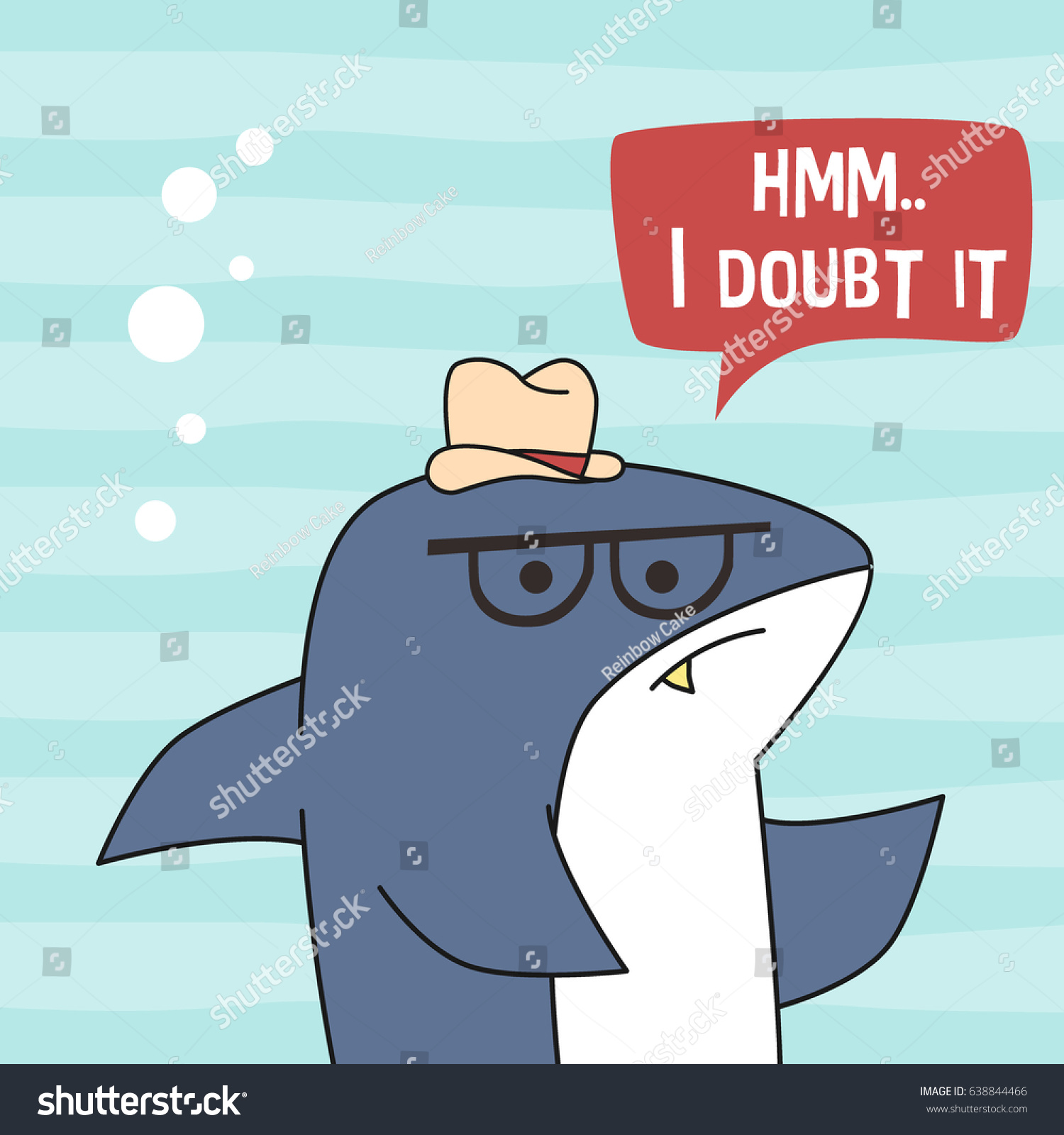 awesome retro cute shark design tshirt stock vector 638844466