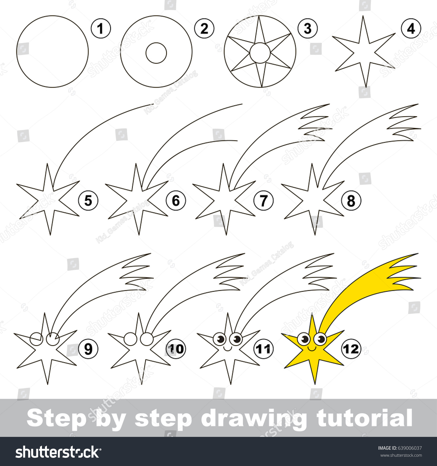 Kid Game Develop Drawing Skill Easy Stock Vector 639006037