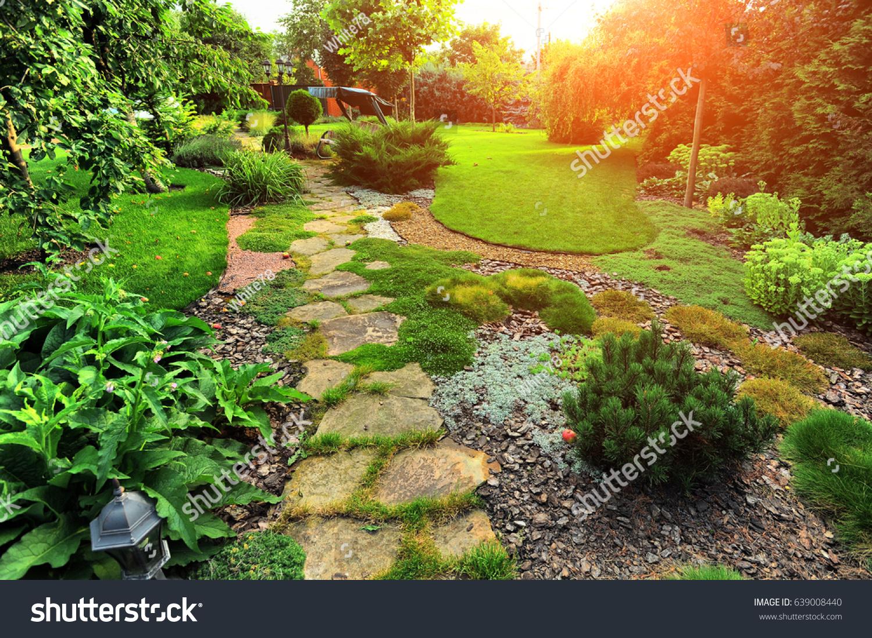 Beautiful landscaping beautiful plants flowers stock photo edit now beautiful landscaping with beautiful plants and flowers izmirmasajfo