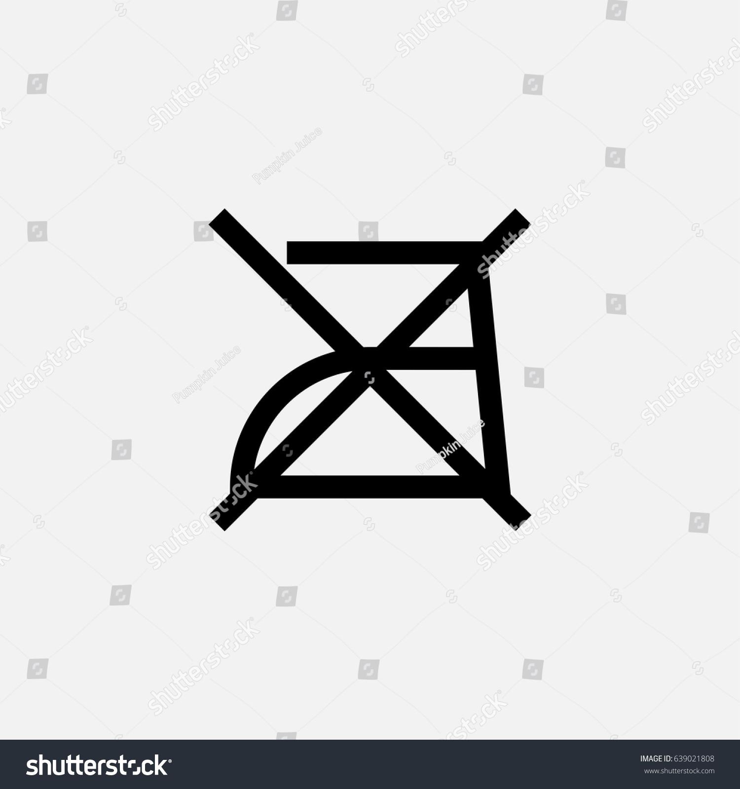 Do Not Iron Outline Vector Icon Stock Vector 639021808 Shutterstock