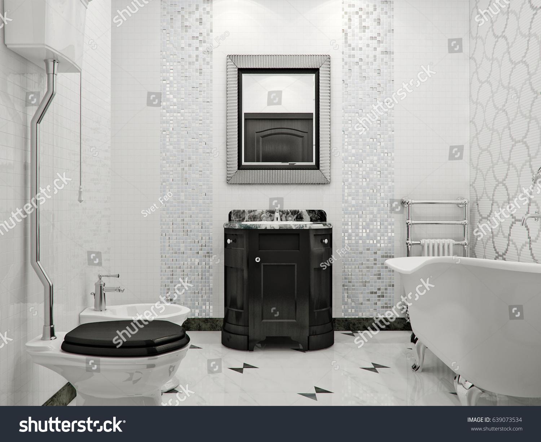 Luxurious Bathroom Classic Style Interior Design Stock Illustration ...