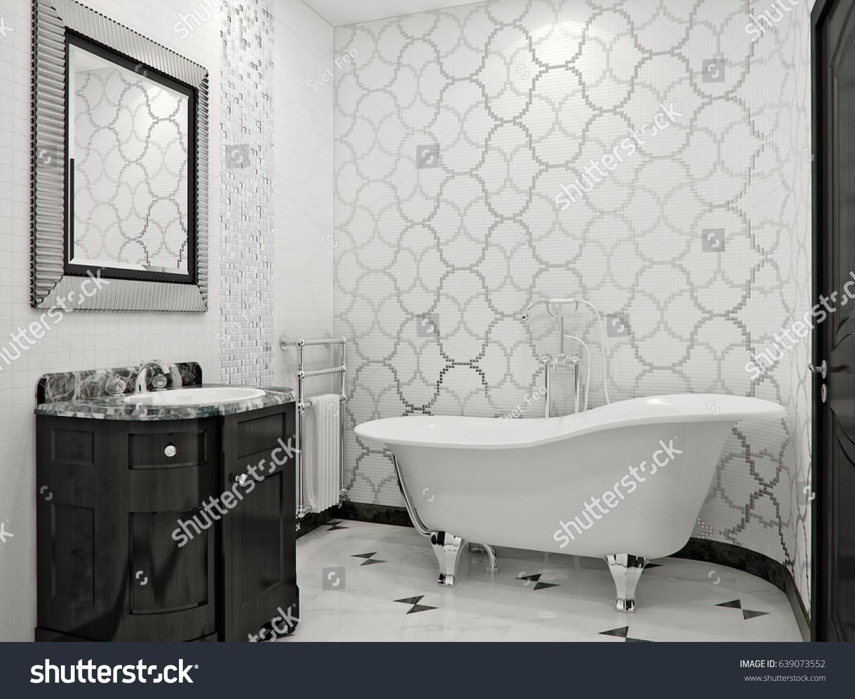 Black And White Marble Tile Bathroom. Top White Marble Tile Bathroom ...