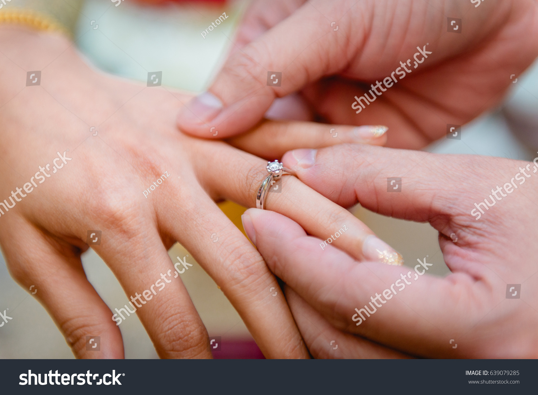 wearing wedding ring ceremony | EZ Canvas