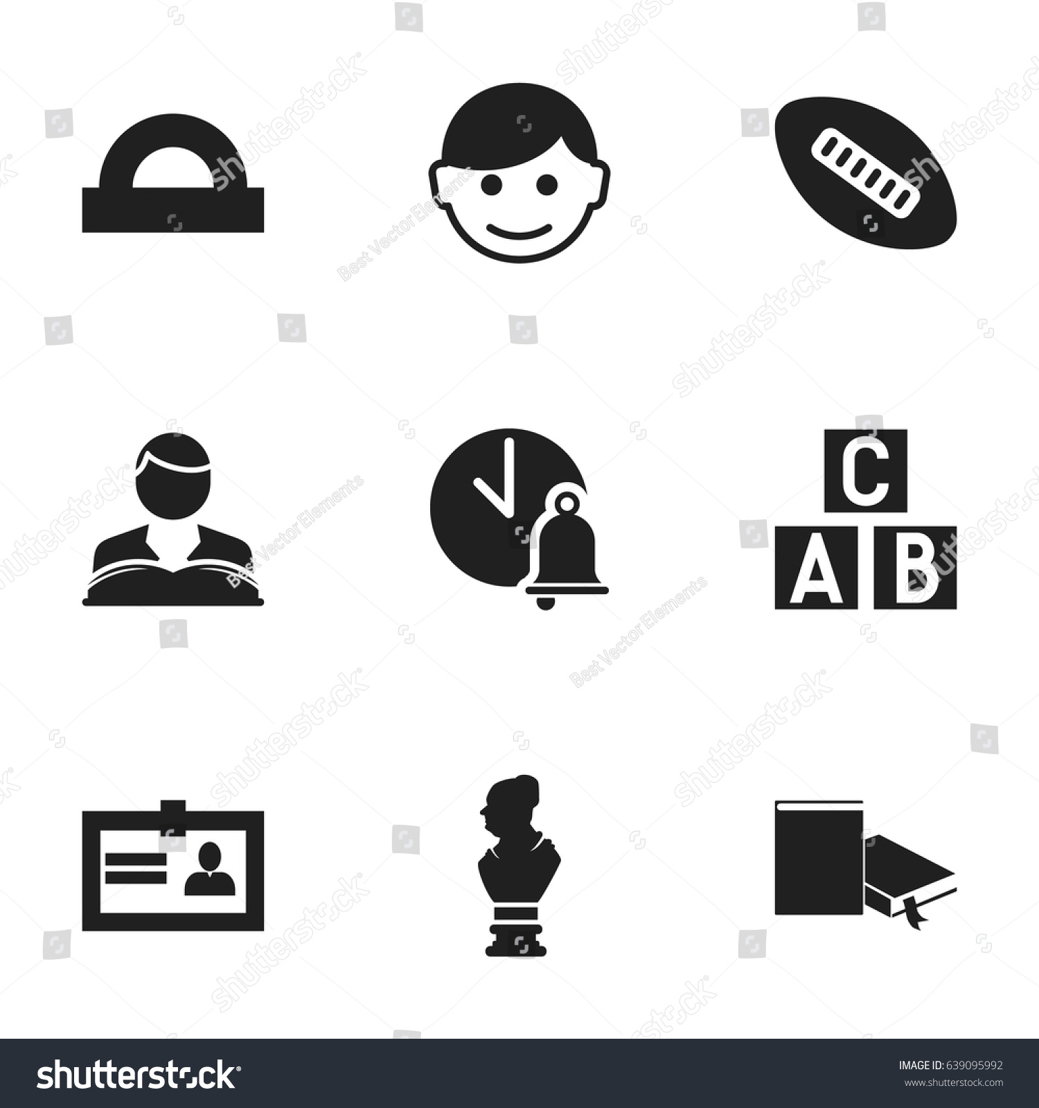 Set 9 editable science icons includes stock vector 639095992 includes symbols such as certification studying boy 1betcityfo Image collections