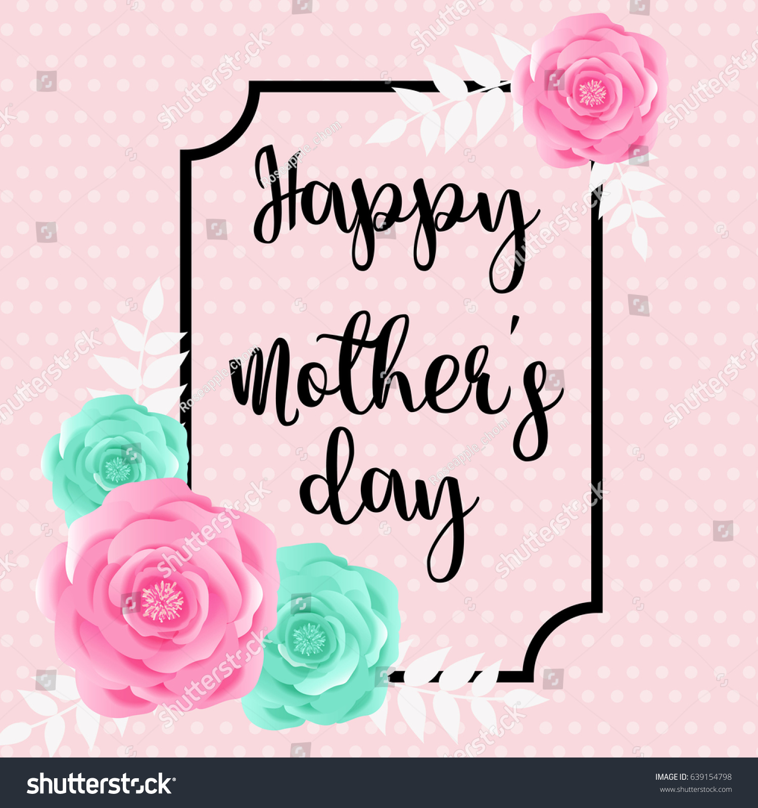 Happy mothers day greeting card blossom stock vector 639154798 happy mothers day greeting card with blossom flower kristyandbryce Image collections