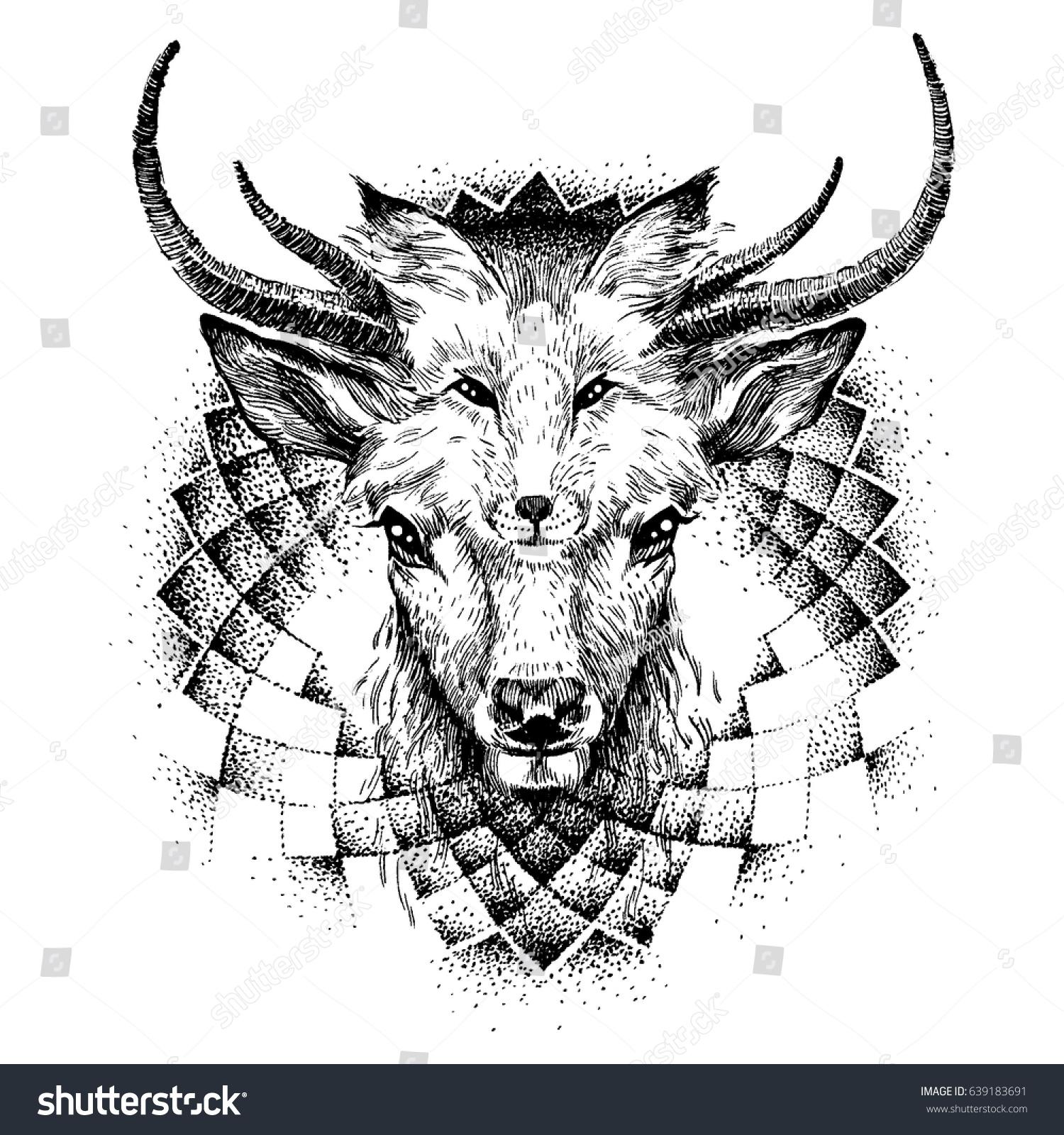 Vector de stock (libre de regalías) sobre El ciervo y el zorro ...