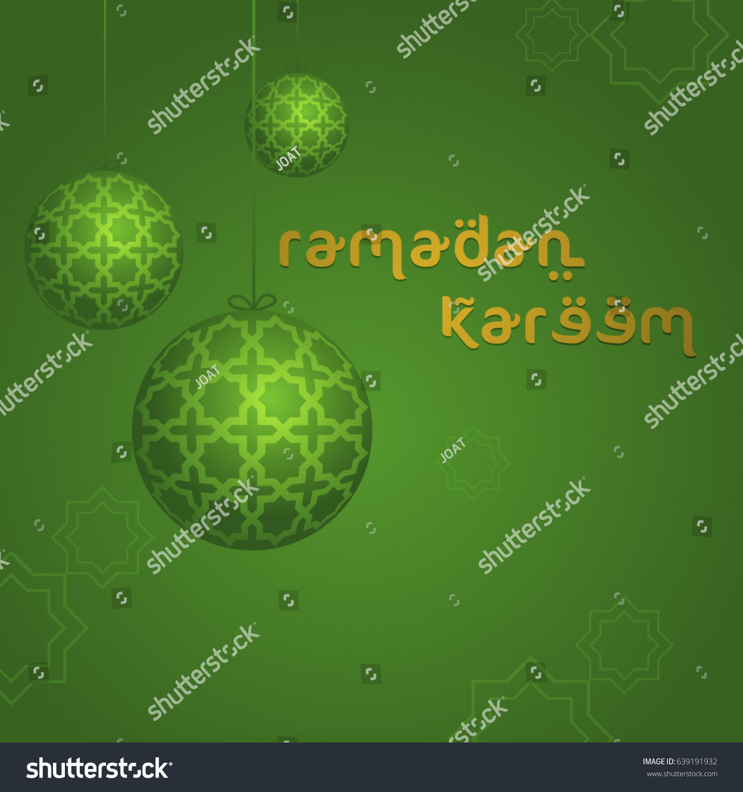 Ramadan Kareem Greeting Message English Bright Stock Vector Royalty