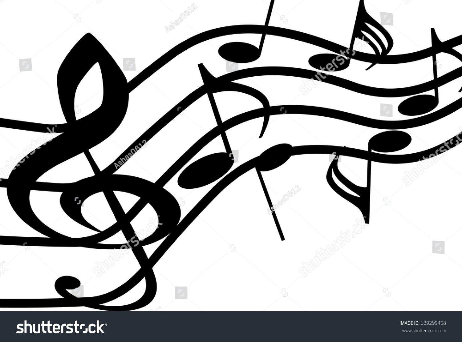 Black icons music treble clef music stock vector 639299458 black icons of music treble clef music symbols vector buycottarizona Gallery