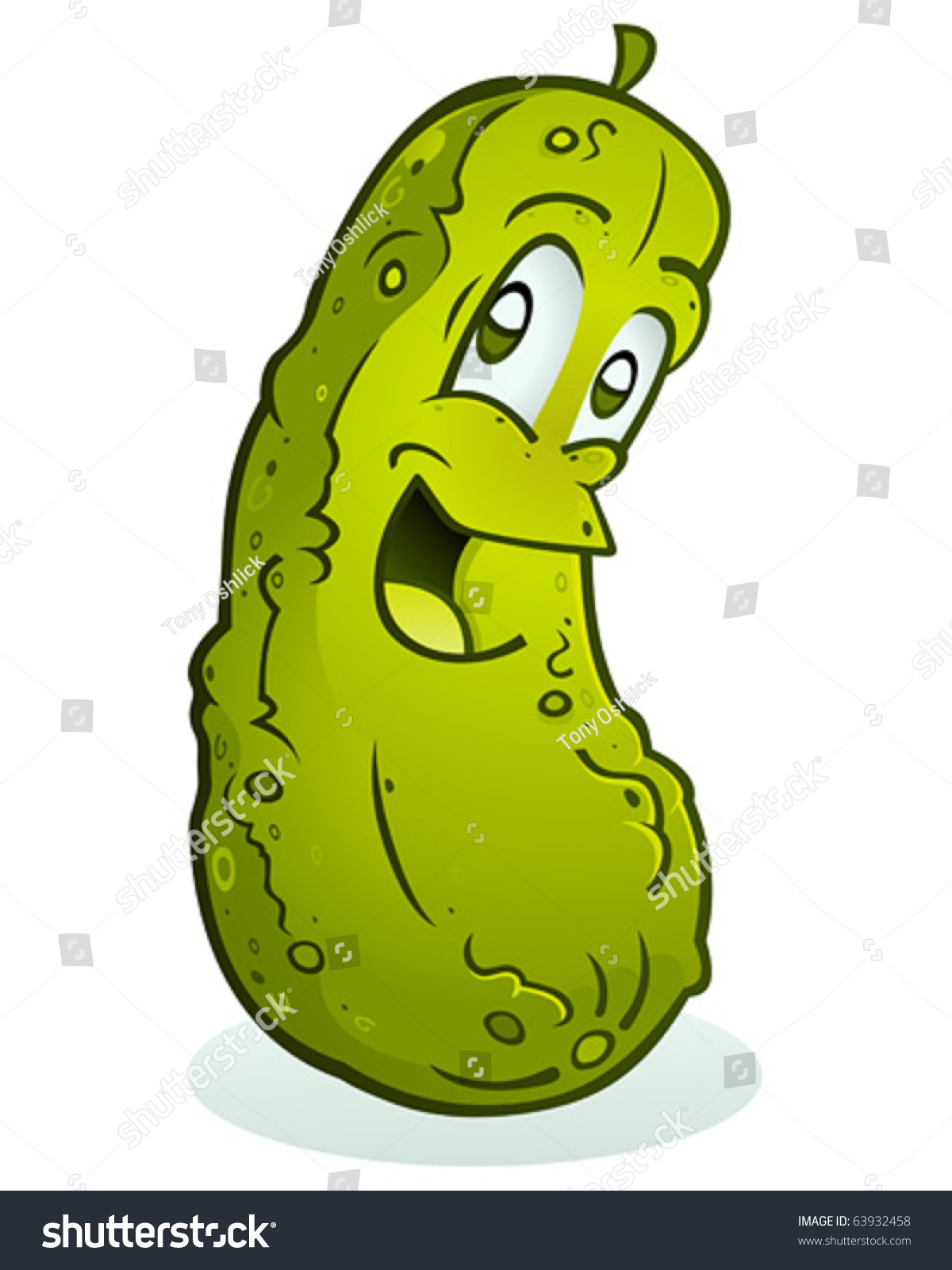 Dill Pickle Cartoon Character Stock Vector 63932458 ...
