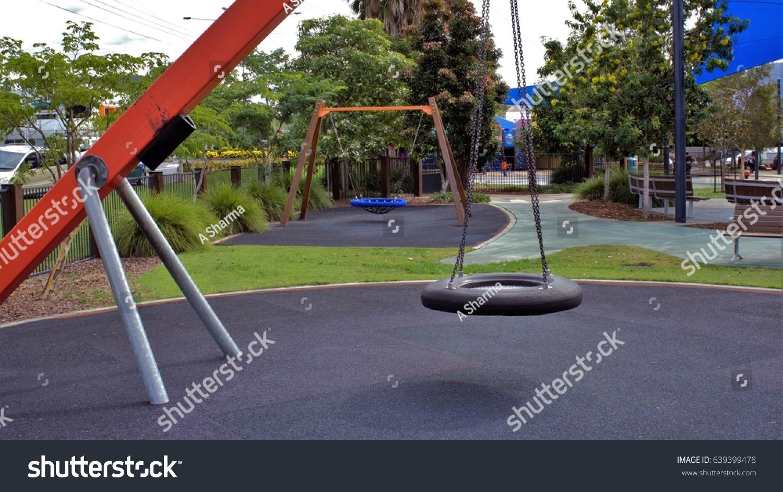 empty tire swing park tyre swing stock photo 639399478 shutterstock