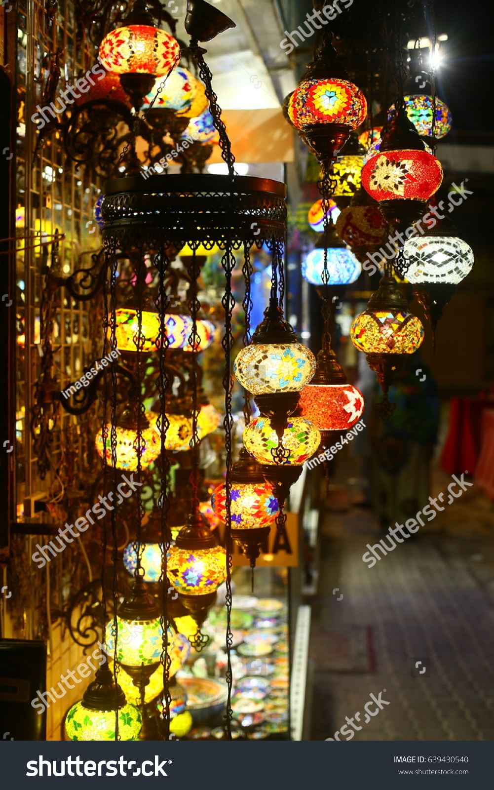Traditional Arabic Hanging Lantern Dubai Market Stock Photo ... for Traditional Arabic Lamp  29jwn