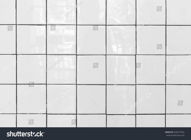 White Tiles Floor Closed White Glossy Stock Photo (Edit Now ...