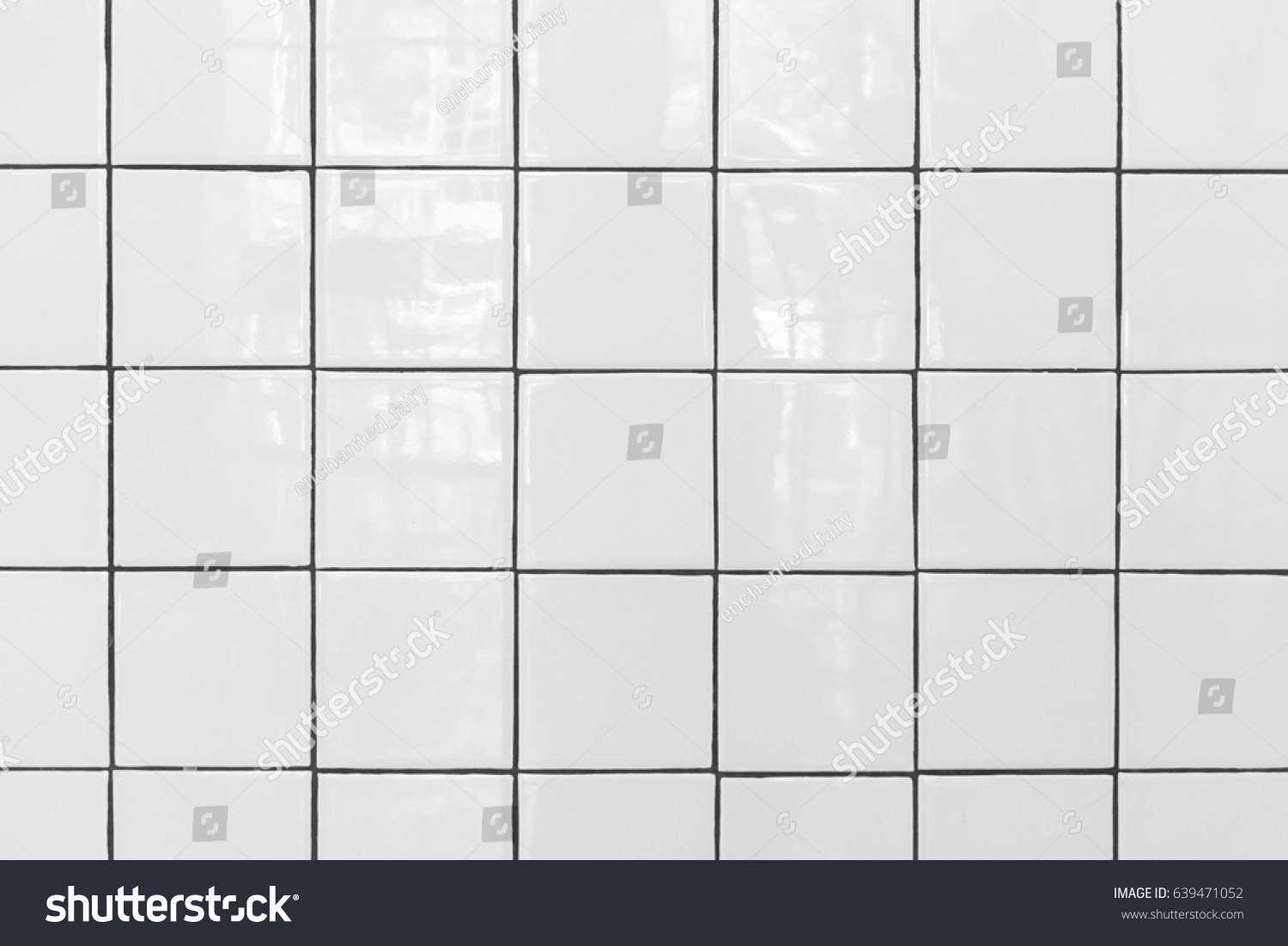 White Tile Floor Texture White Tiles Floor Texture Tile Pattern Stock Photo 639471052