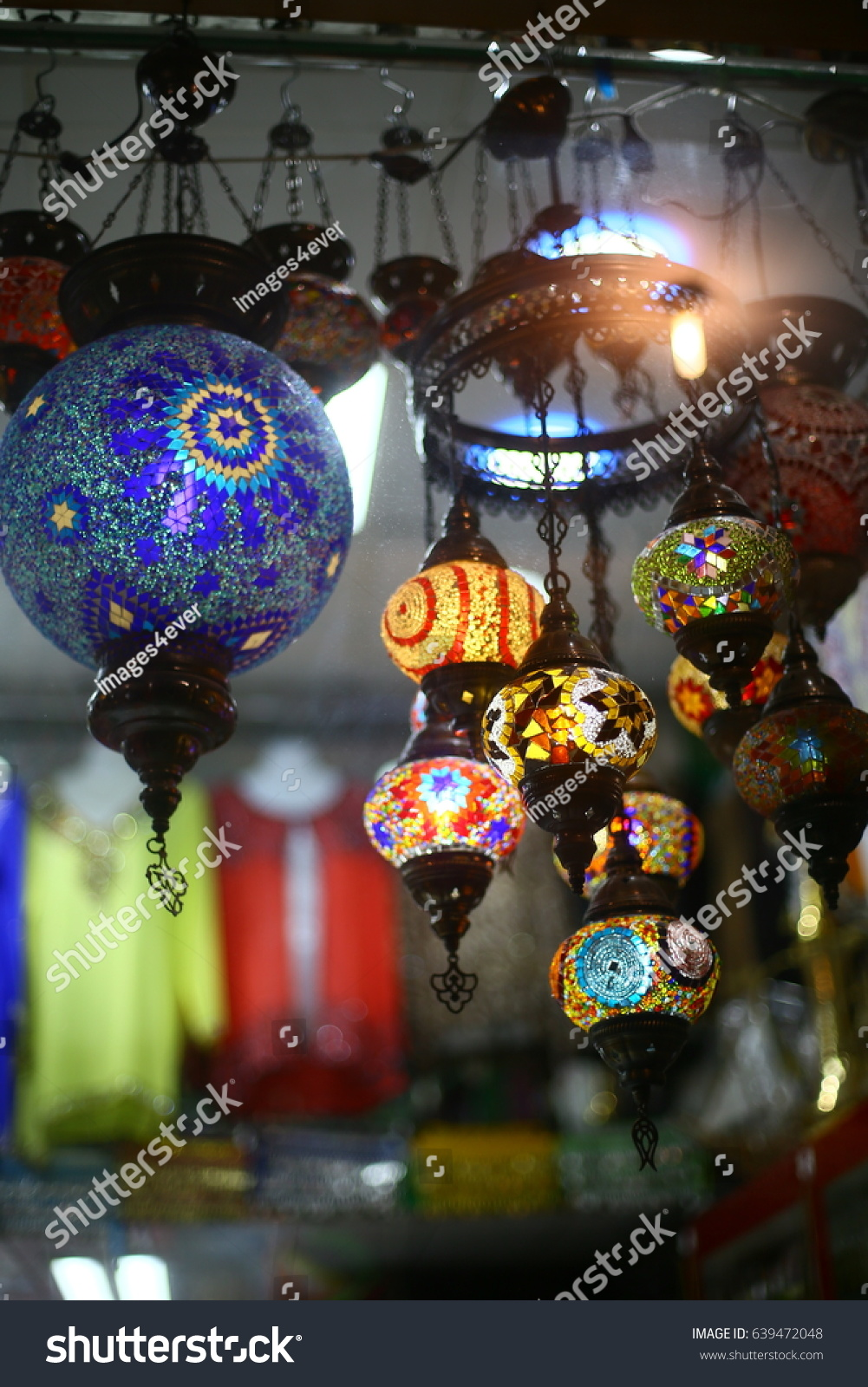 Traditional Arabic Hanging Lantern Dubai Market Stock Photo ... for Traditional Arabic Lamp  55nar