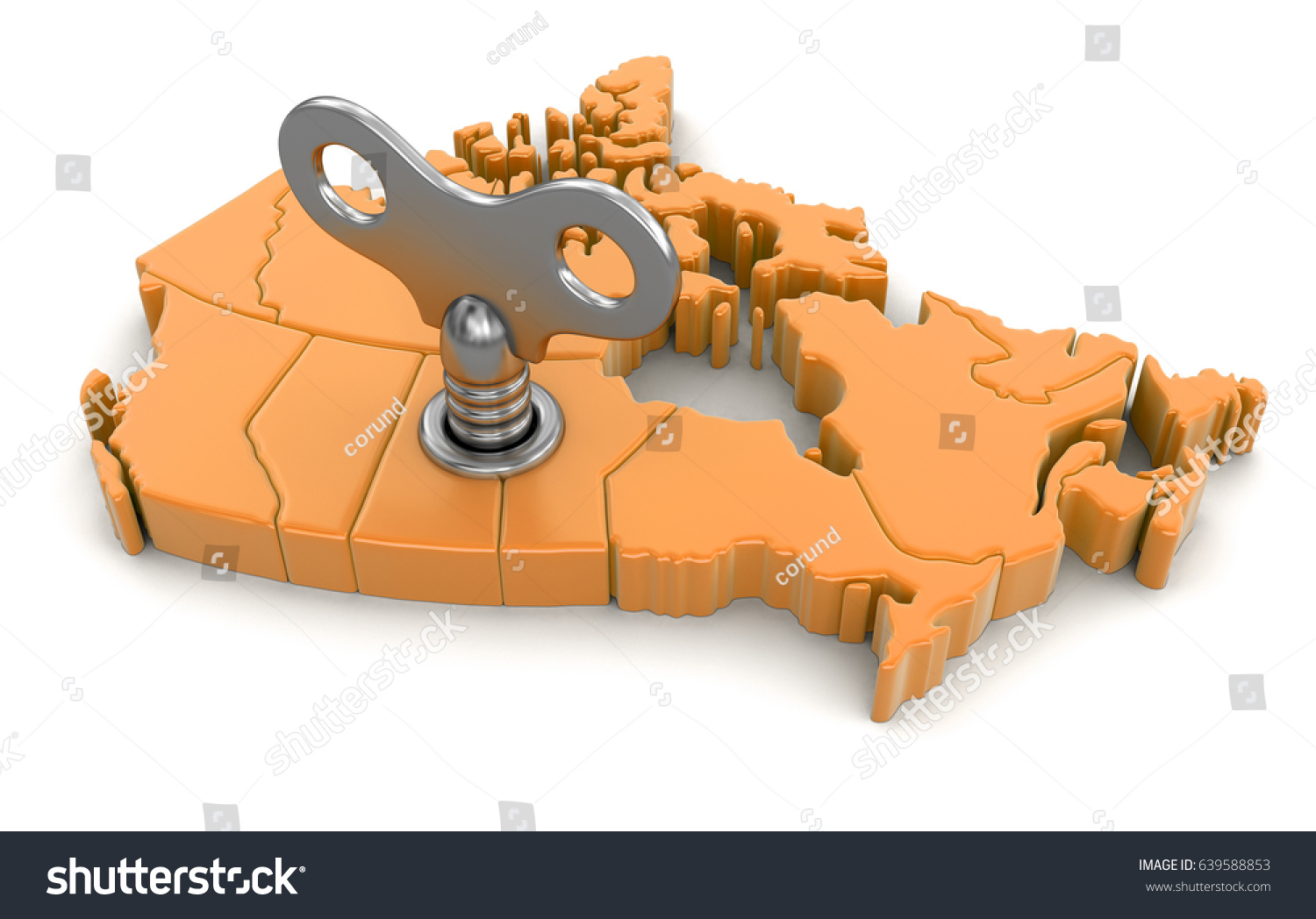 Canadian Map Key - Canada 3d maps on us tesla