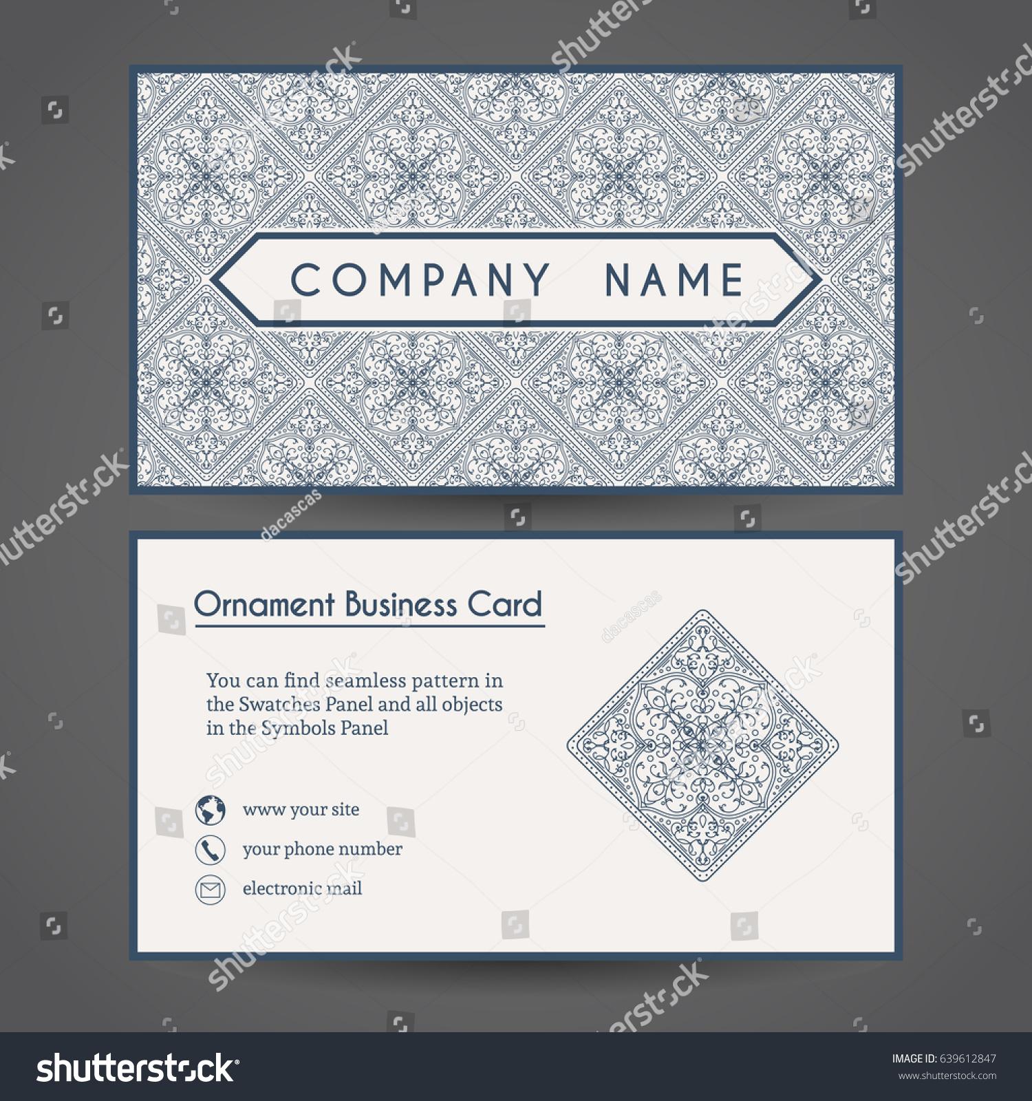 Ornamental Vintage Business Card Vector Editable Stock Vector HD ...