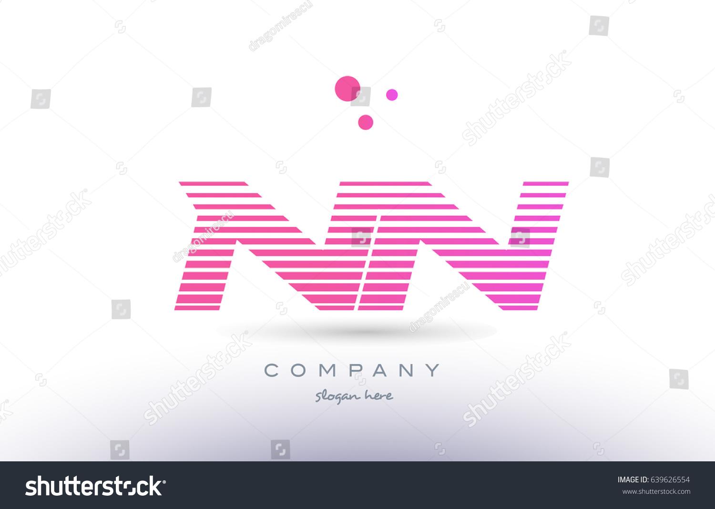 Nn N Alphabet Letter Logo Pink Stock Vector (Royalty Free) 639626554 ...