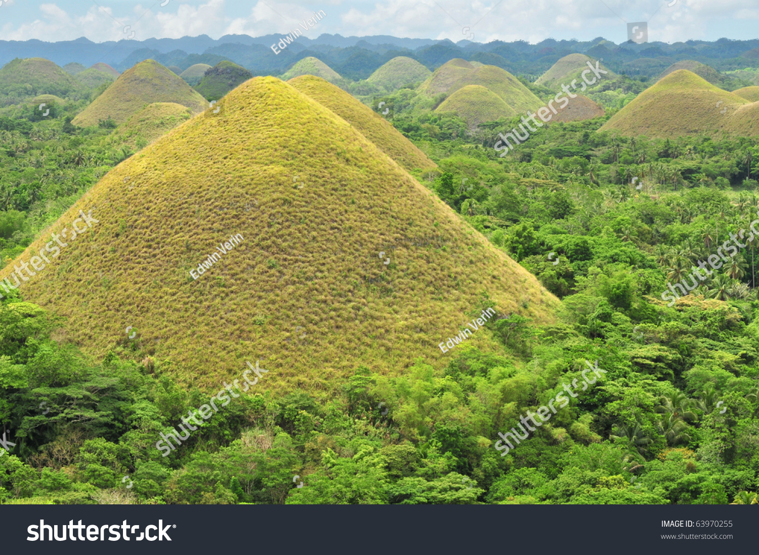 Chocolate Hills Bohol Philippines Earth Mounds Stock Photo ...
