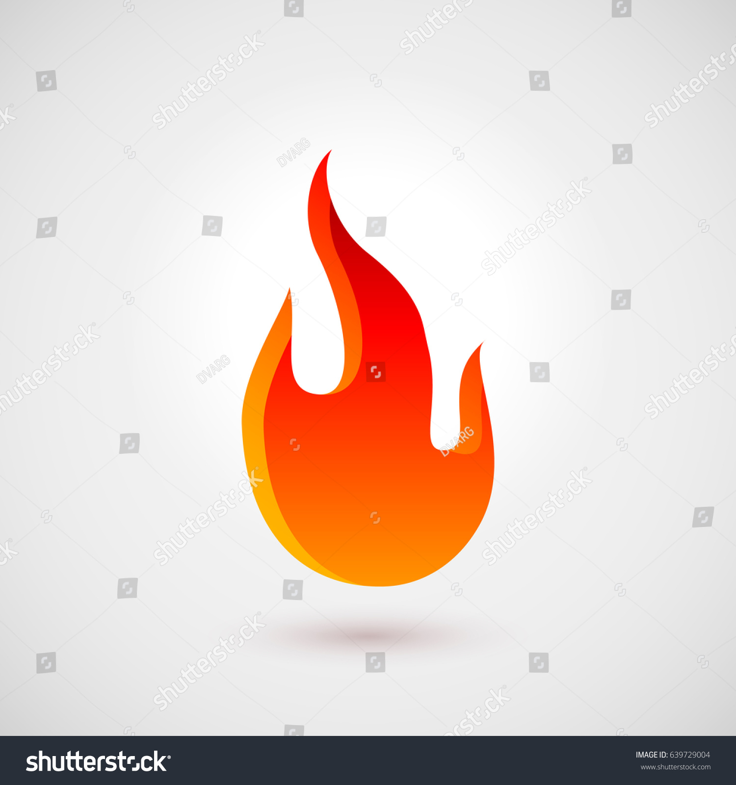 Abstract Symbol Fire Flames Logo Design Stock Vector Royalty Free