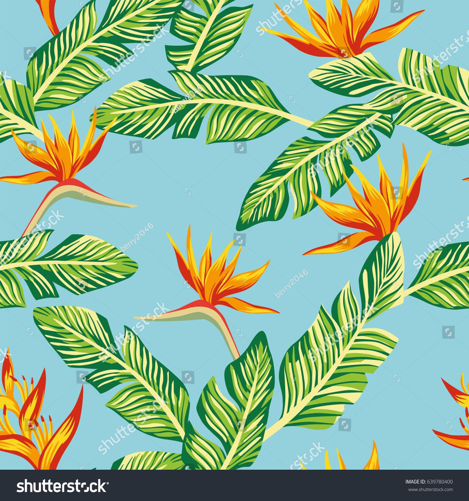 Beach Cheerful Seamless Pattern Wallpaper Tropical 639780400