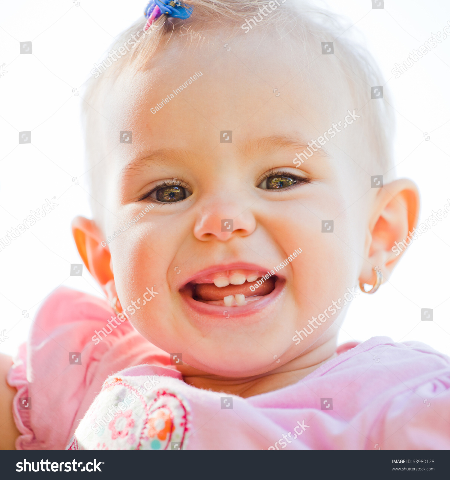 small baby girl spending time outdoor stock photo & image (royalty