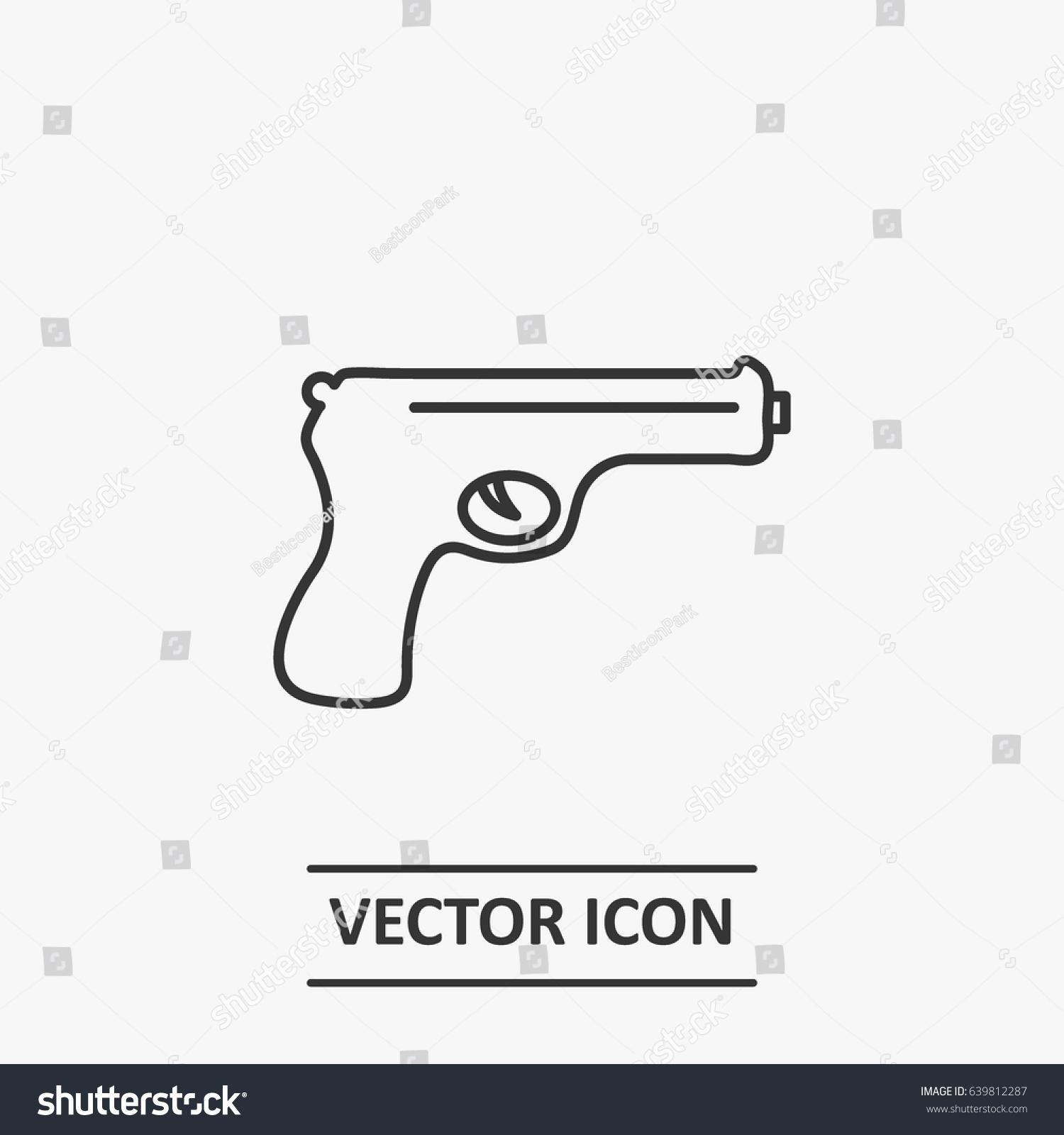 Outline pistol icon illustration vector symbol stock vector outline pistol icon illustration vector symbol buycottarizona