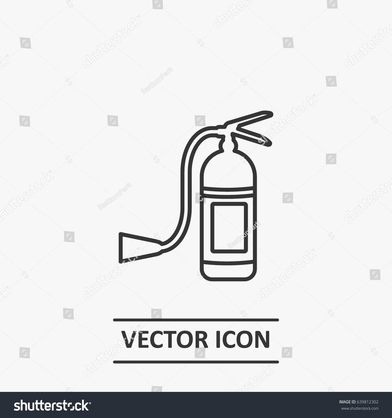 Outline fire extinguisher icon illustration vector stock vector outline fire extinguisher icon illustration vector symbol buycottarizona