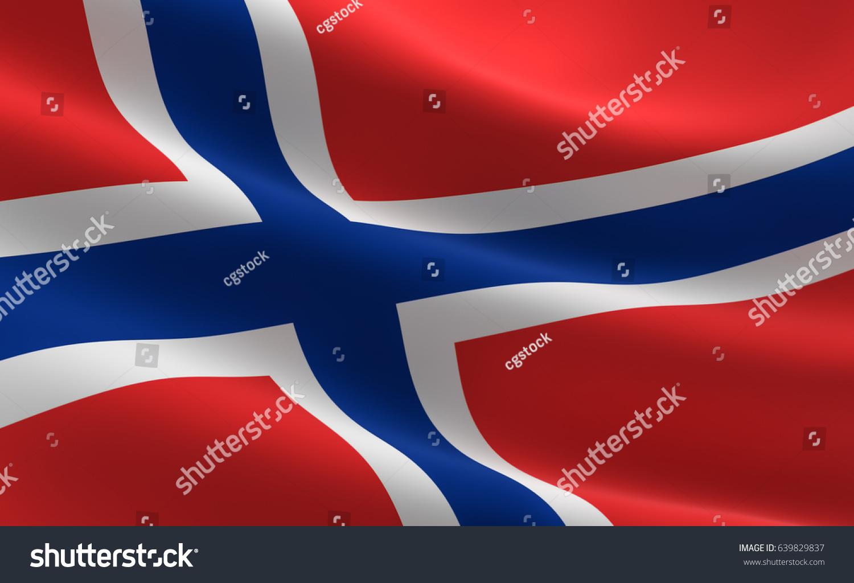 norway flag illustration norway flag waving stock illustration