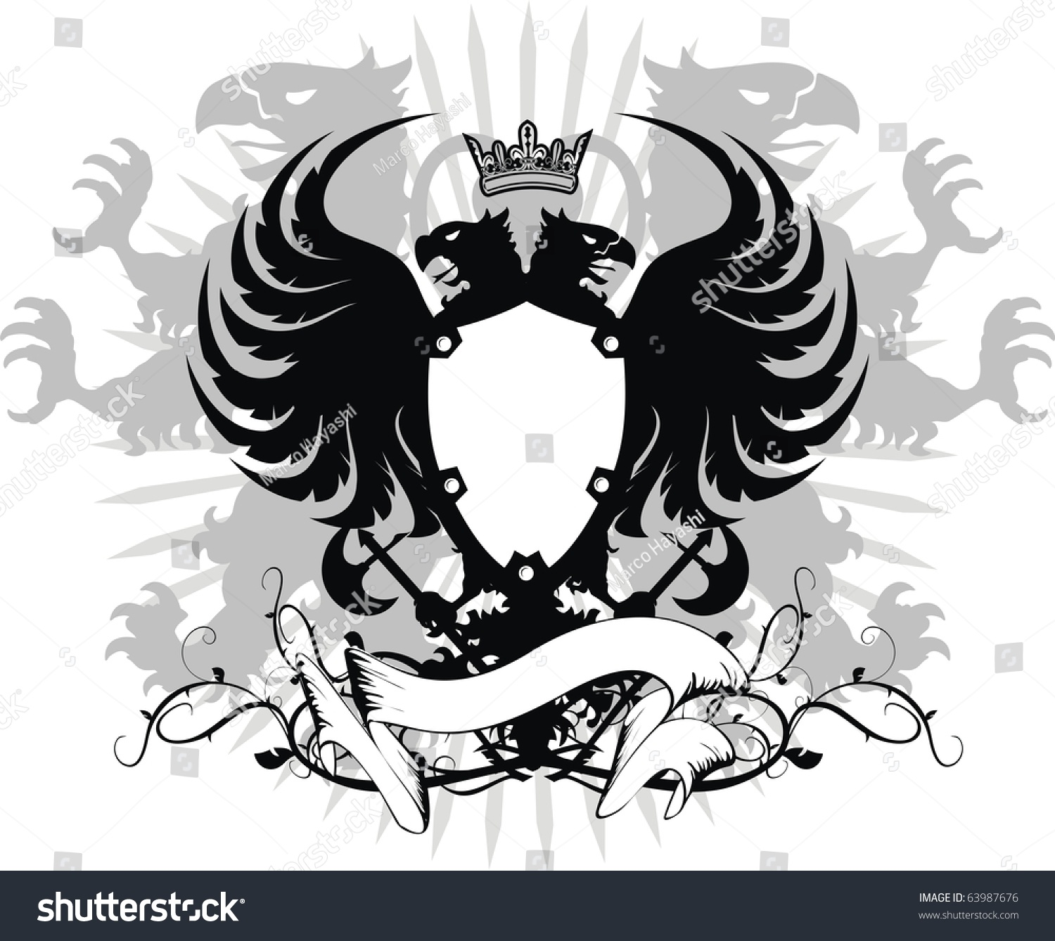 af7342a973fad heraldic eagle double head in vector format very easy to edit #63987676