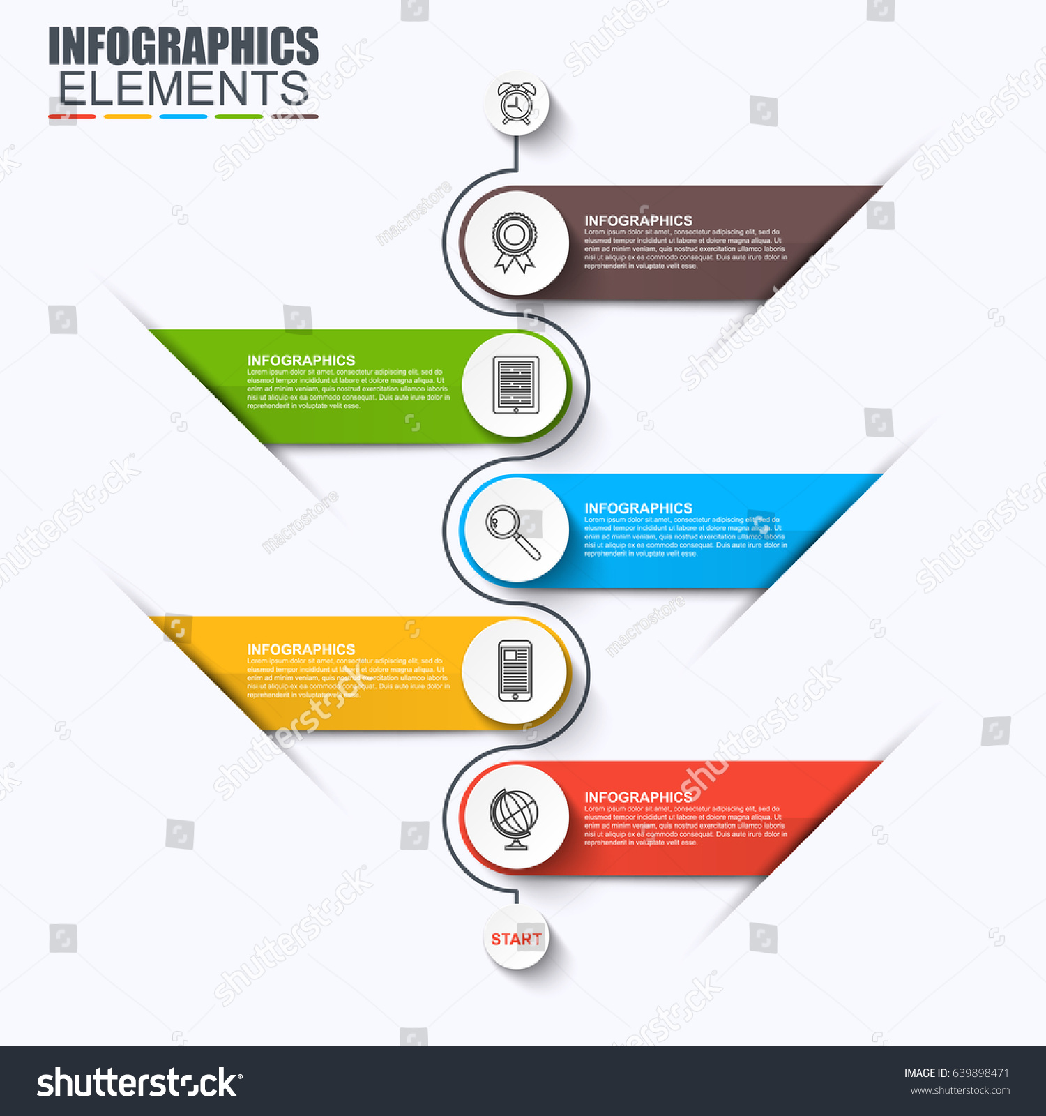 Abstract infographic data visualization vector design stock photo abstract infographic data visualization vector design template can be used for steps options publicscrutiny Images