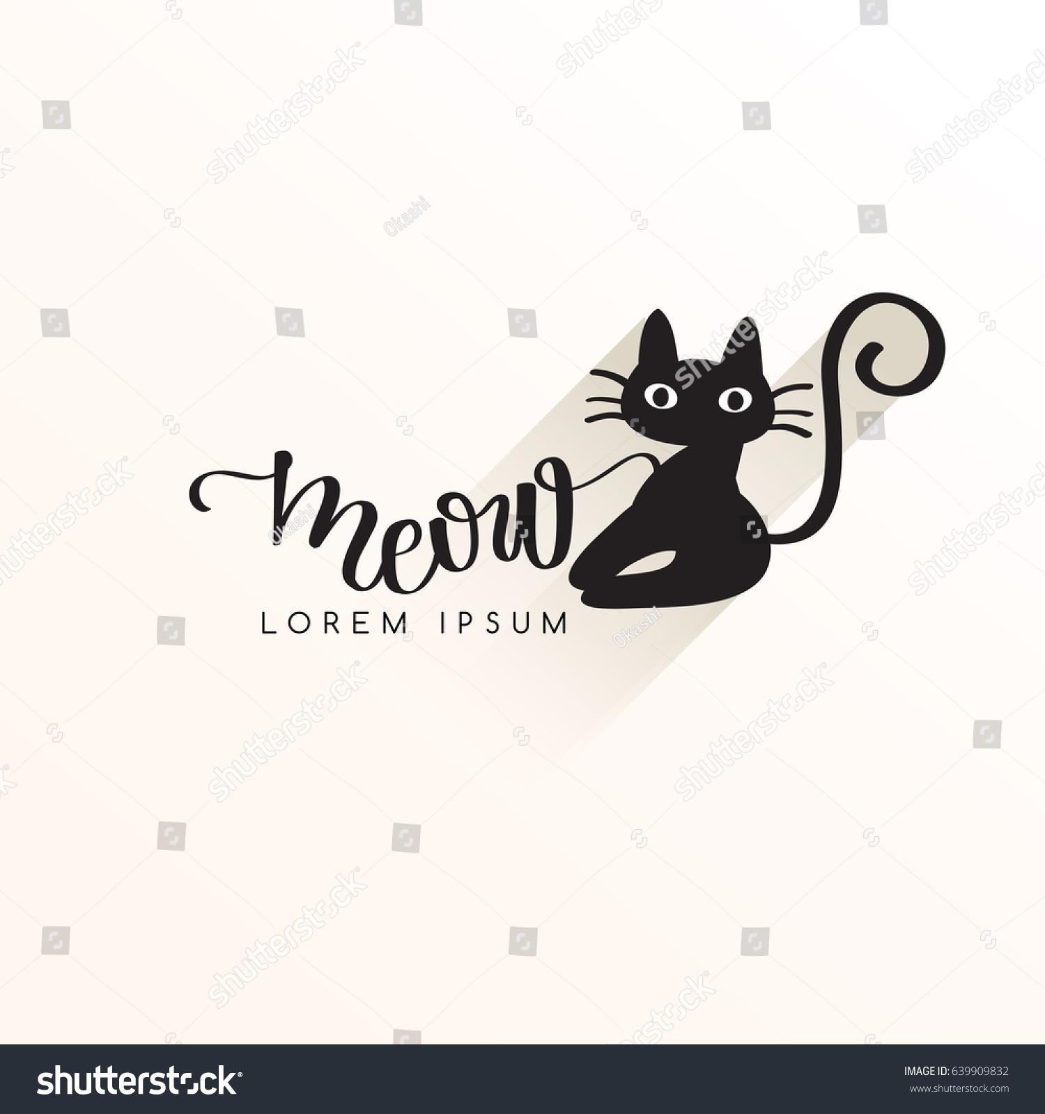 Black Cat Logo Template Vector Illustration Ez Canvas
