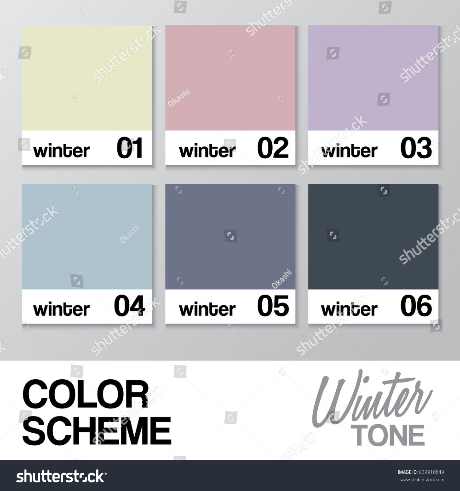 Color chart winter vector illustration stock vector 639910849 color chart for winter vector illustration nvjuhfo Choice Image