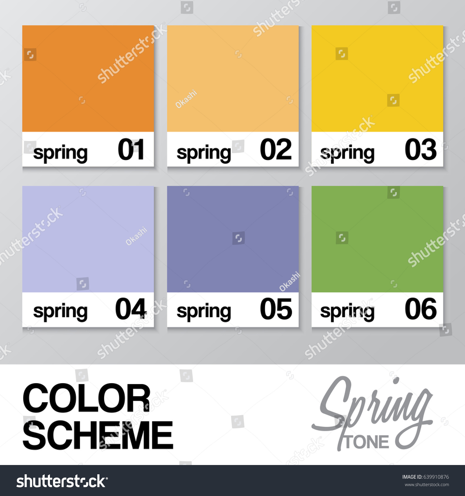 Color chart spring vector illustration stock vector 639910876 color chart for spring vector illustration nvjuhfo Gallery