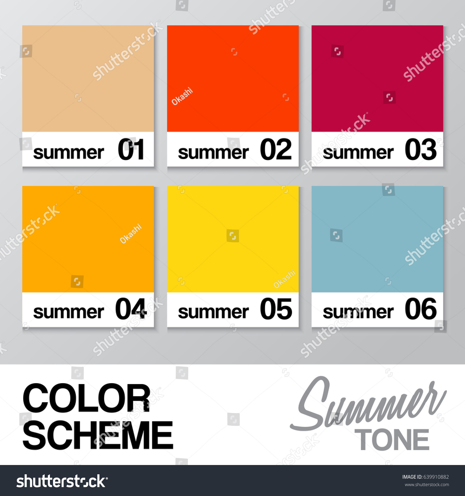 Color chart summer vector illustration stock vector 639910882 color chart for summer vector illustration nvjuhfo Gallery