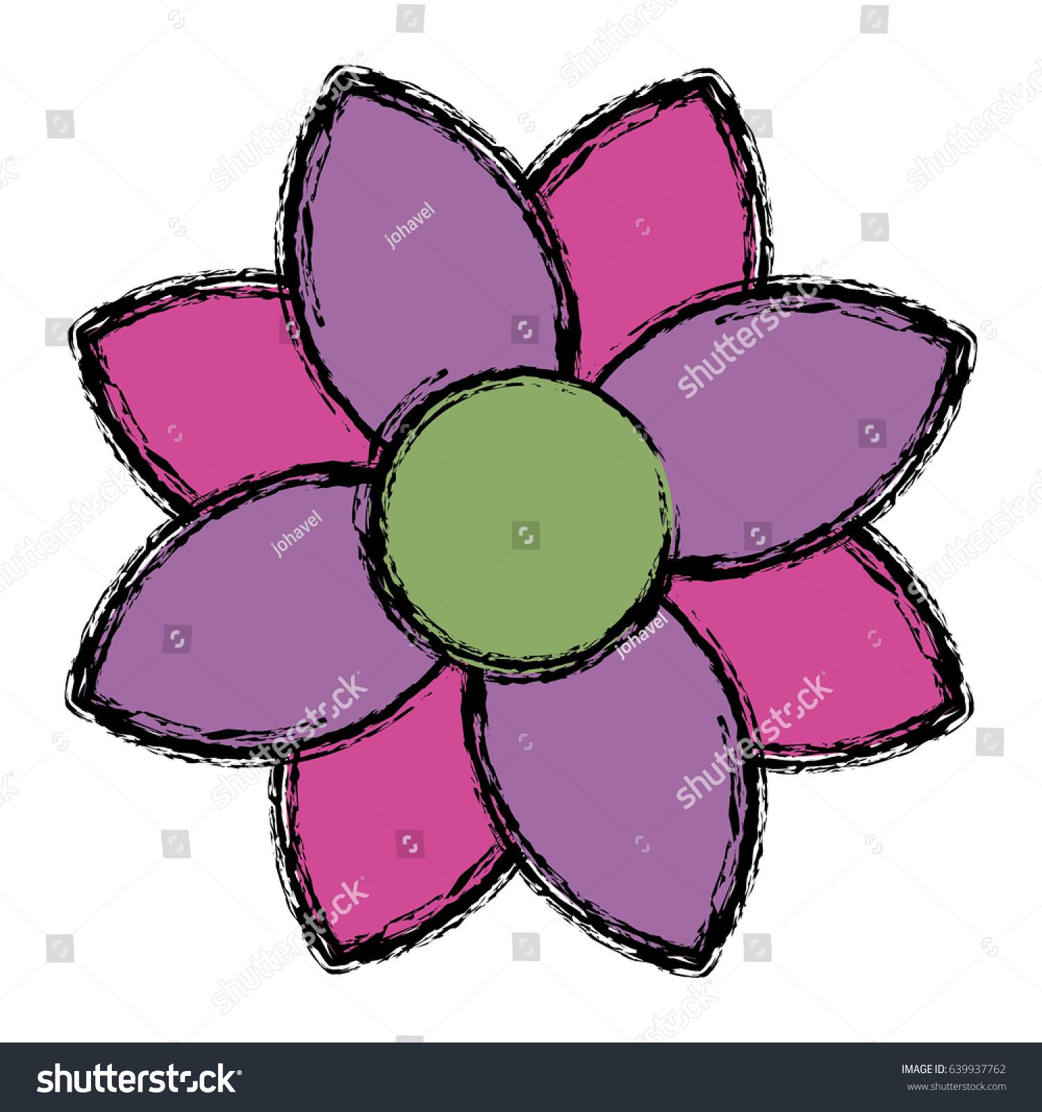 Beautiful Flowers Design Stock Vector Royalty Free 639937762