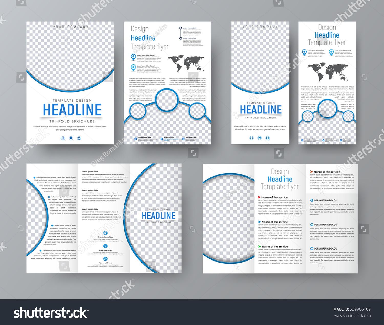 Templates Flyers Brochures Standard Size Business Stock Vector