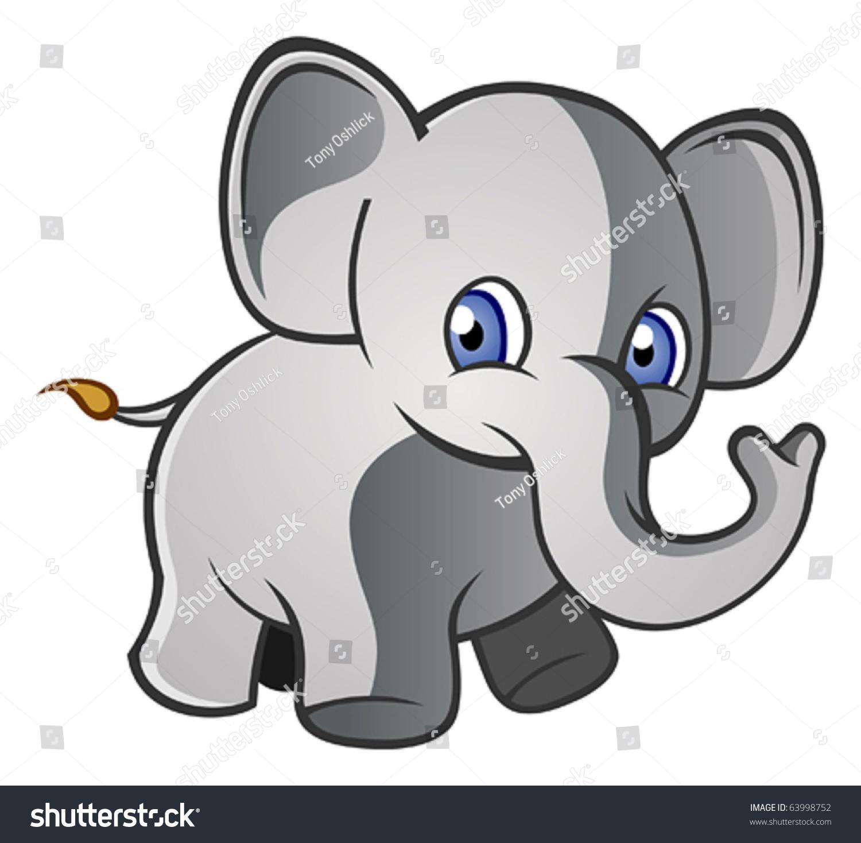baby elephant cartoon character stock vector 63998752 shutterstock