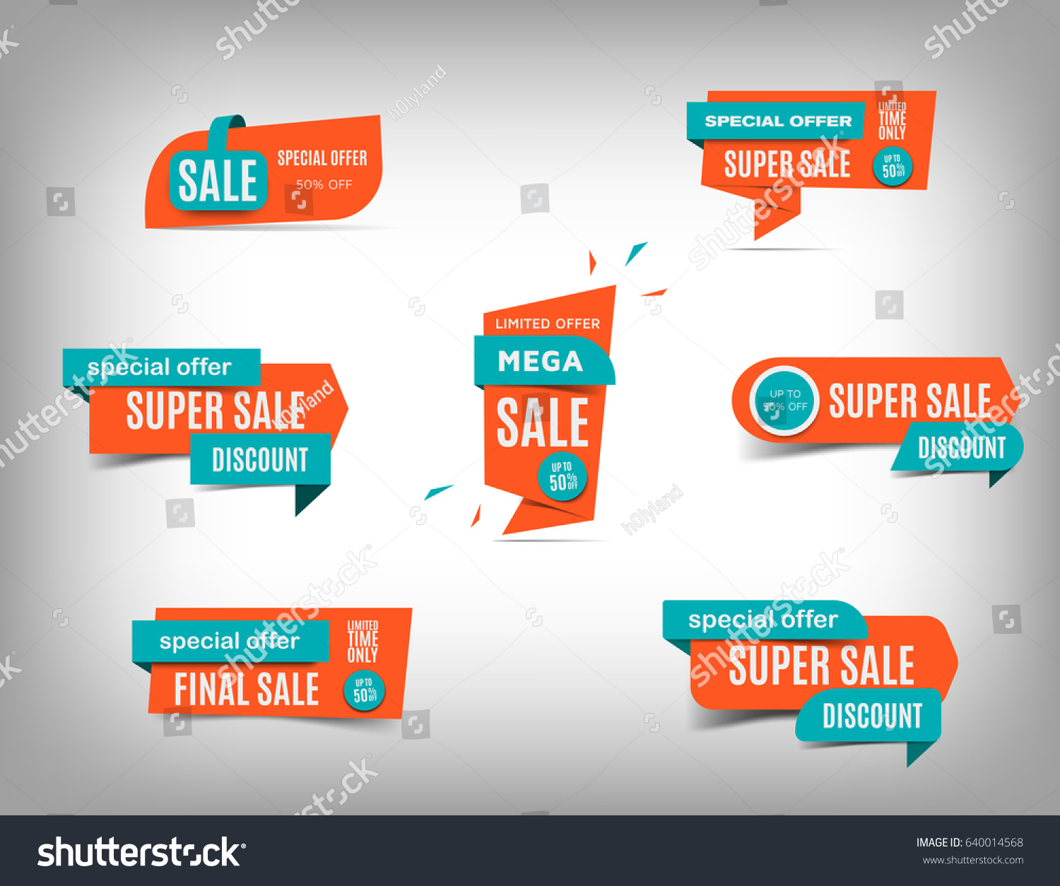 Sale banner collection discount tag special stock vector for Best discount designer websites