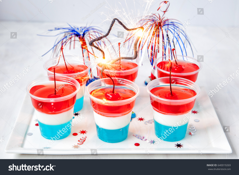 Striped Firecracker Jello Shots 4th July Stock Photo Edit Now