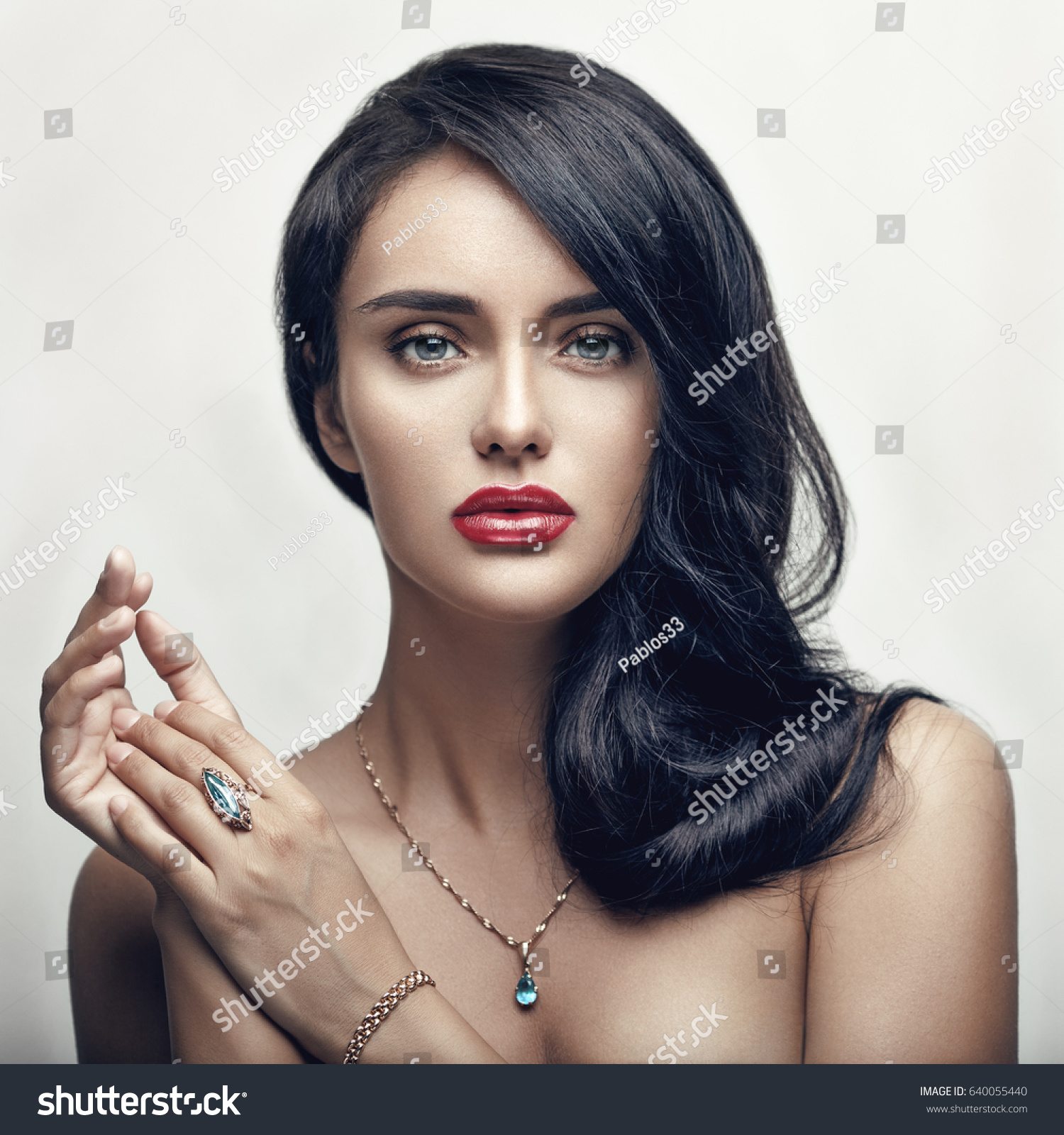 fashion beauty portrait young beautiful glamour stock photo