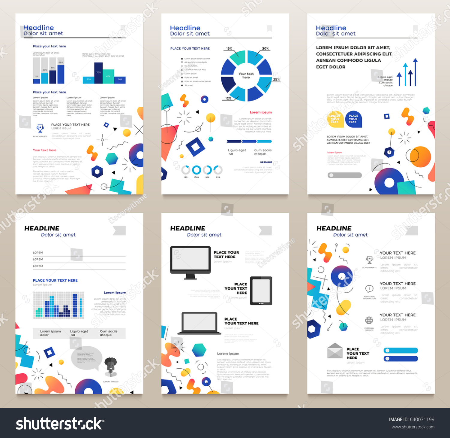 Presentation booklet vector template a4 pages stock vector presentation booklet vector template a4 pages with abstract background make your presentation count pronofoot35fo Choice Image