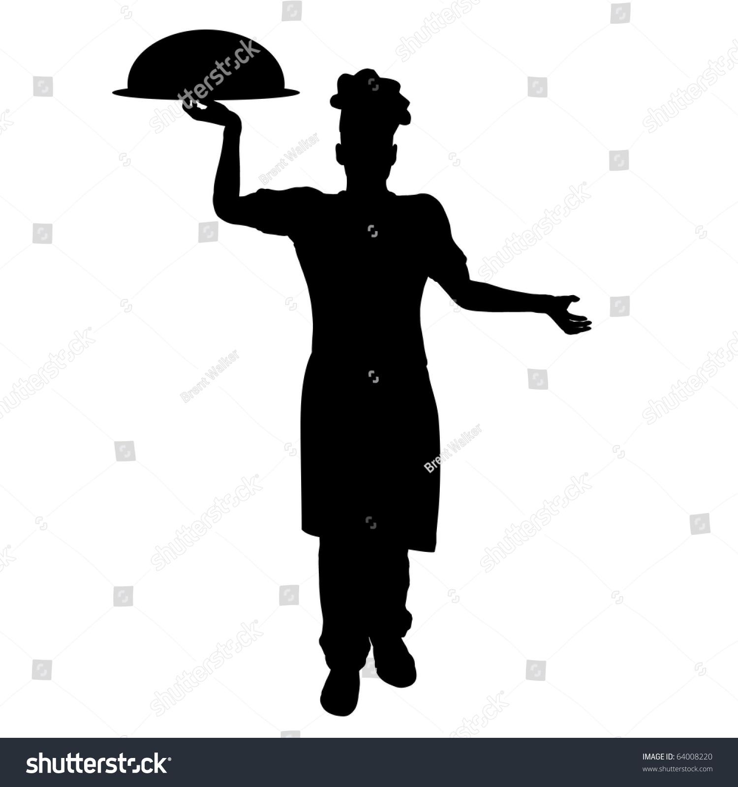 Chef Silhouette Illustration - 64008220 : Shutterstock
