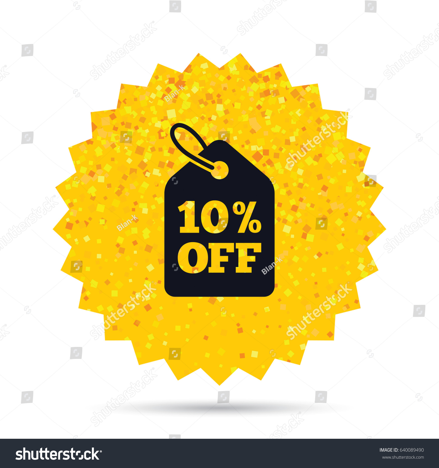 Gold Glitter Web Button 10 Sale Stock Vector Royalty Free