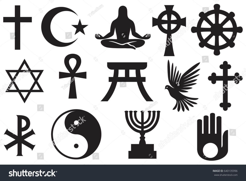 World religions symbols set christianity islam stock vector world religions symbols set christianity islam jewish buddhism hinduism taoism buycottarizona